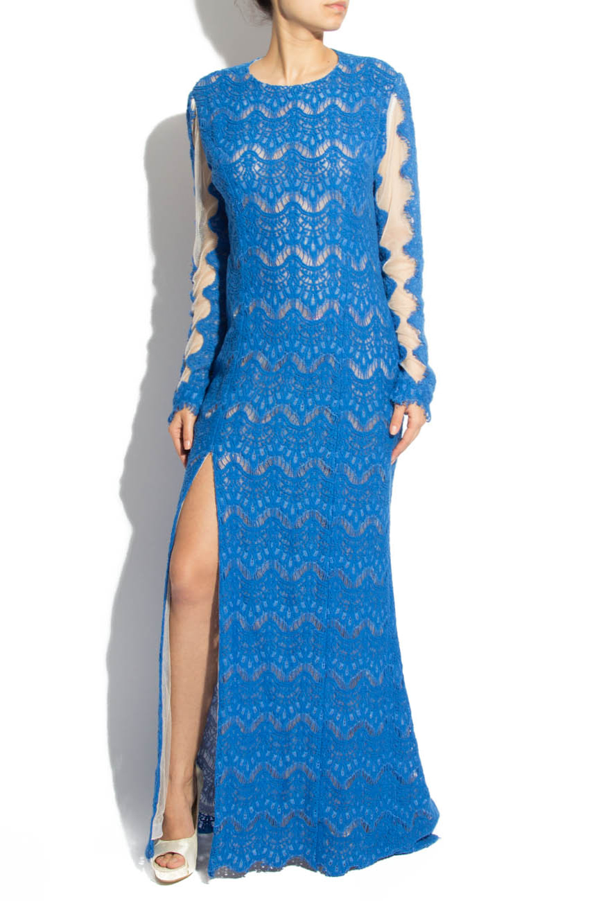 Blue lace dress Adriana Agostini  image 0