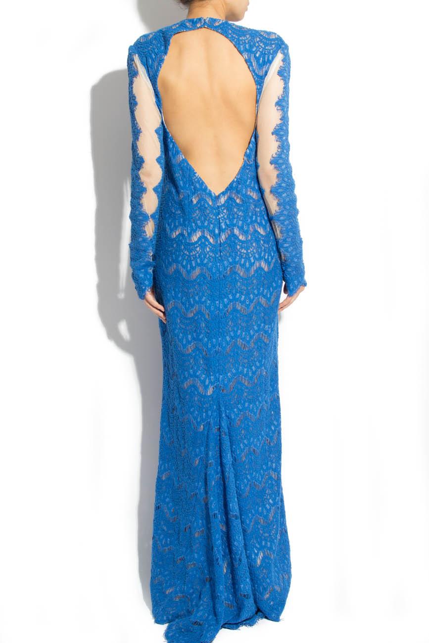 Blue lace dress Adriana Agostini  image 2