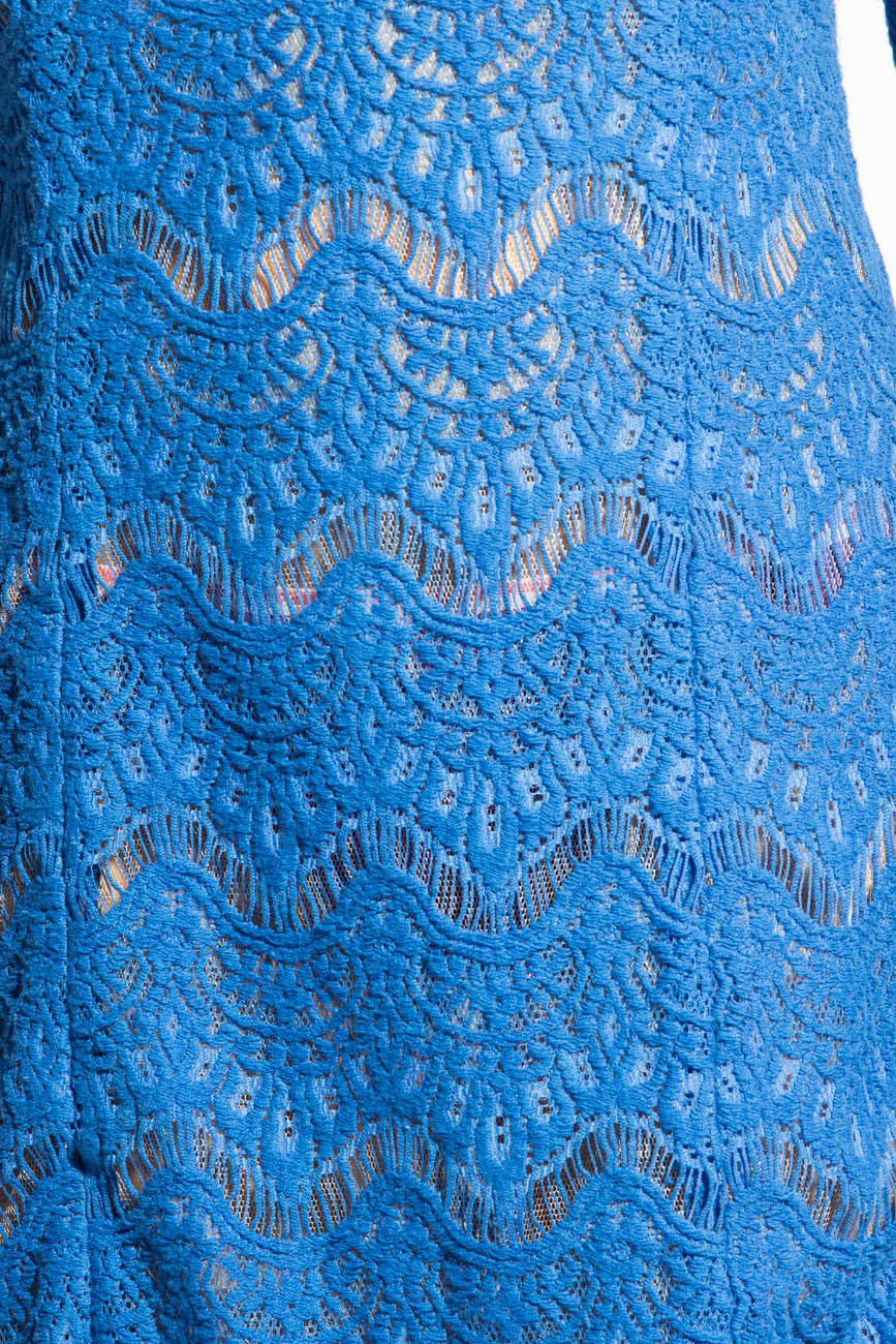 Blue lace dress Adriana Agostini  image 3
