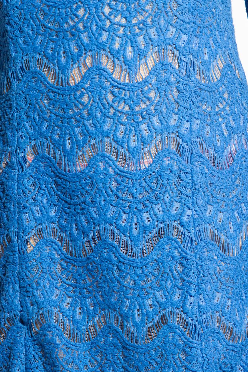Blue lace dress Adriana Agostini  image 3