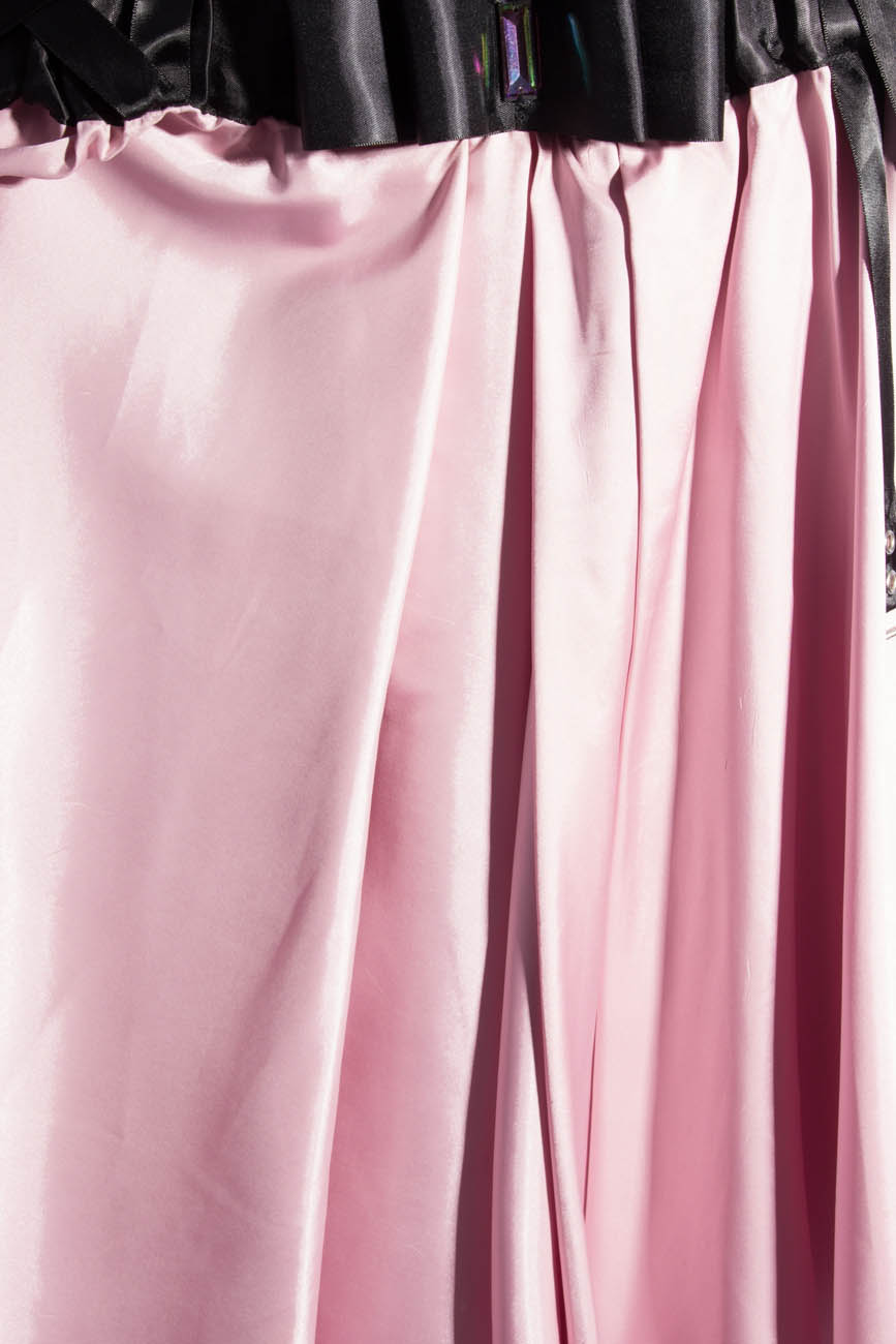 Pink midi skirt with suspenders Laura Firefly image 3