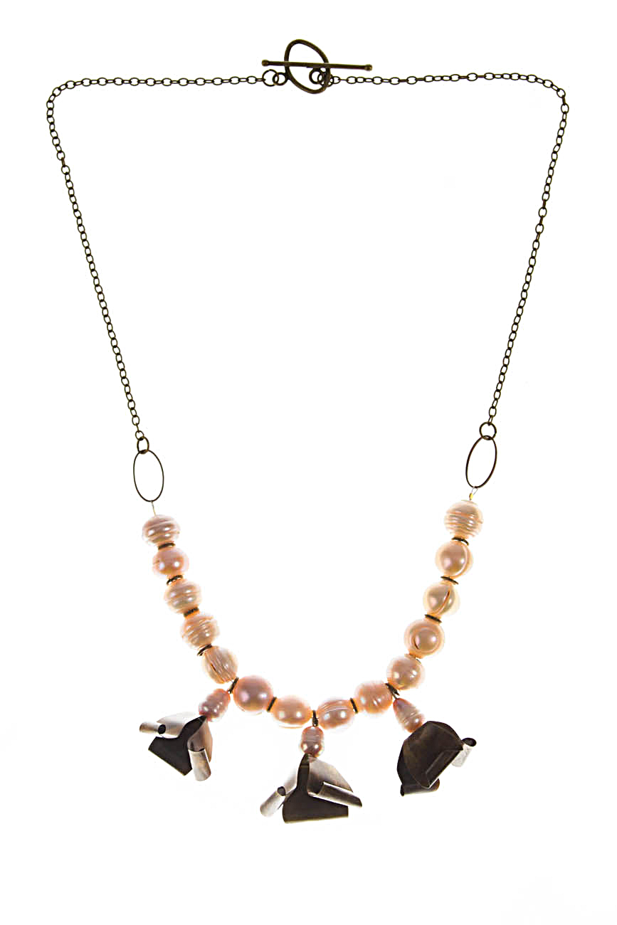 Brass necklace with flowers Iuliana Asoltanei image 0
