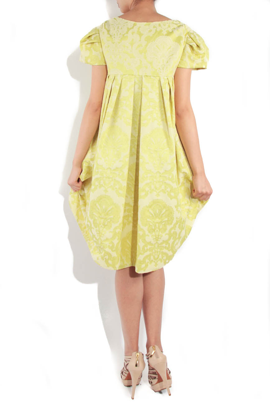 Lime brocade dress Simona Semen image 2