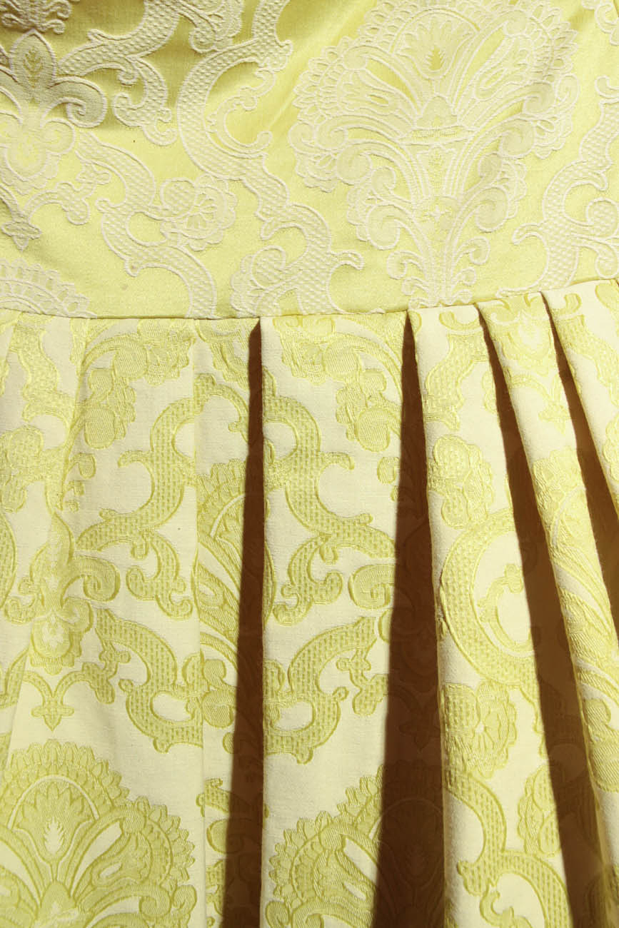Lime brocade dress Simona Semen image 3