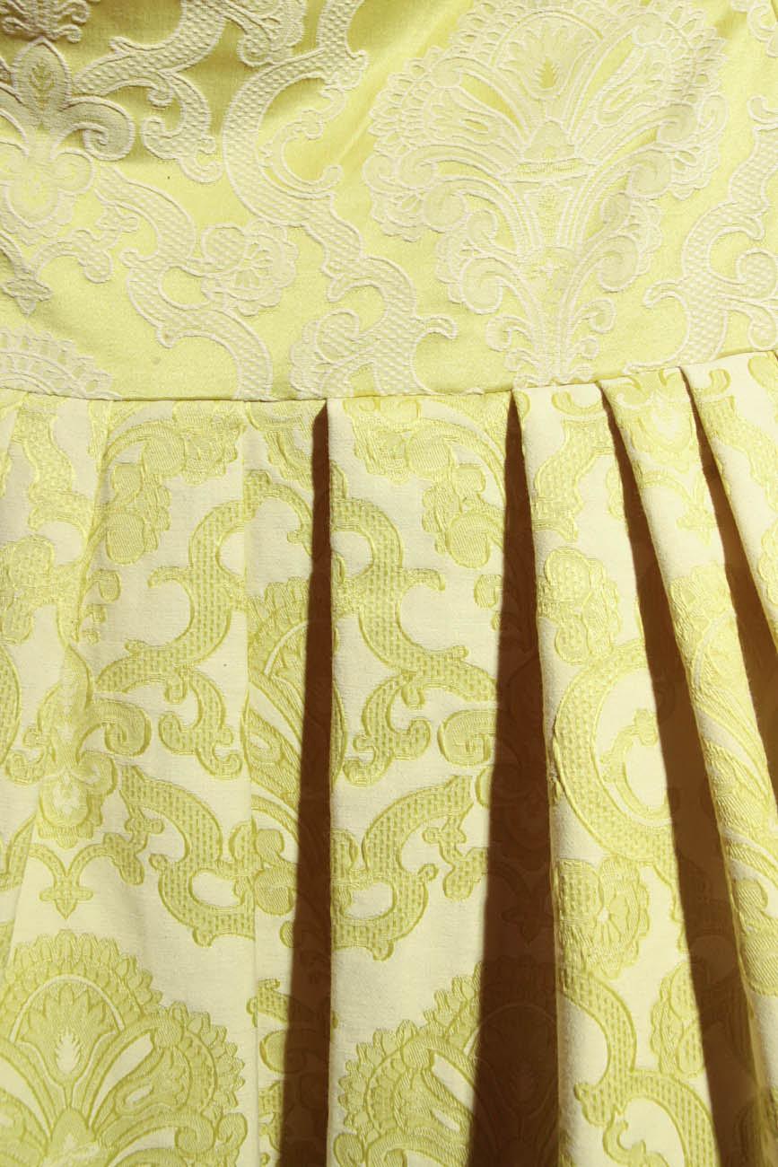Lime brocade dress Simona Semen image 3