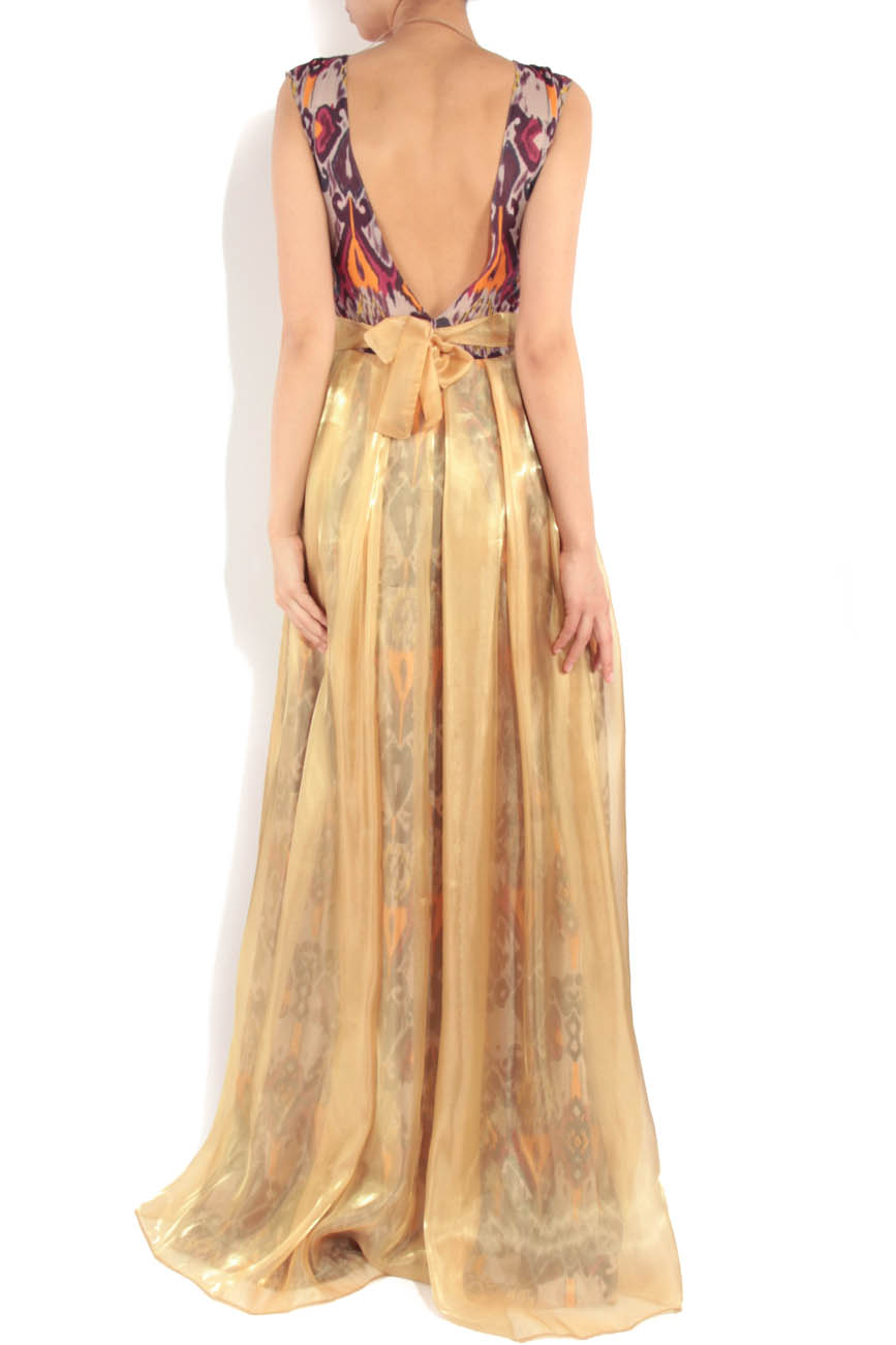Yellow dress with tribal print Simona Semen image 2