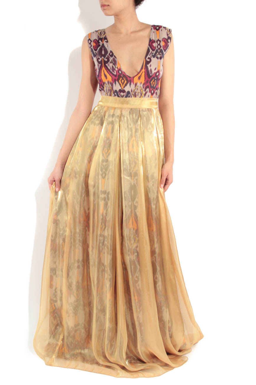 Yellow dress with tribal print Simona Semen image 0