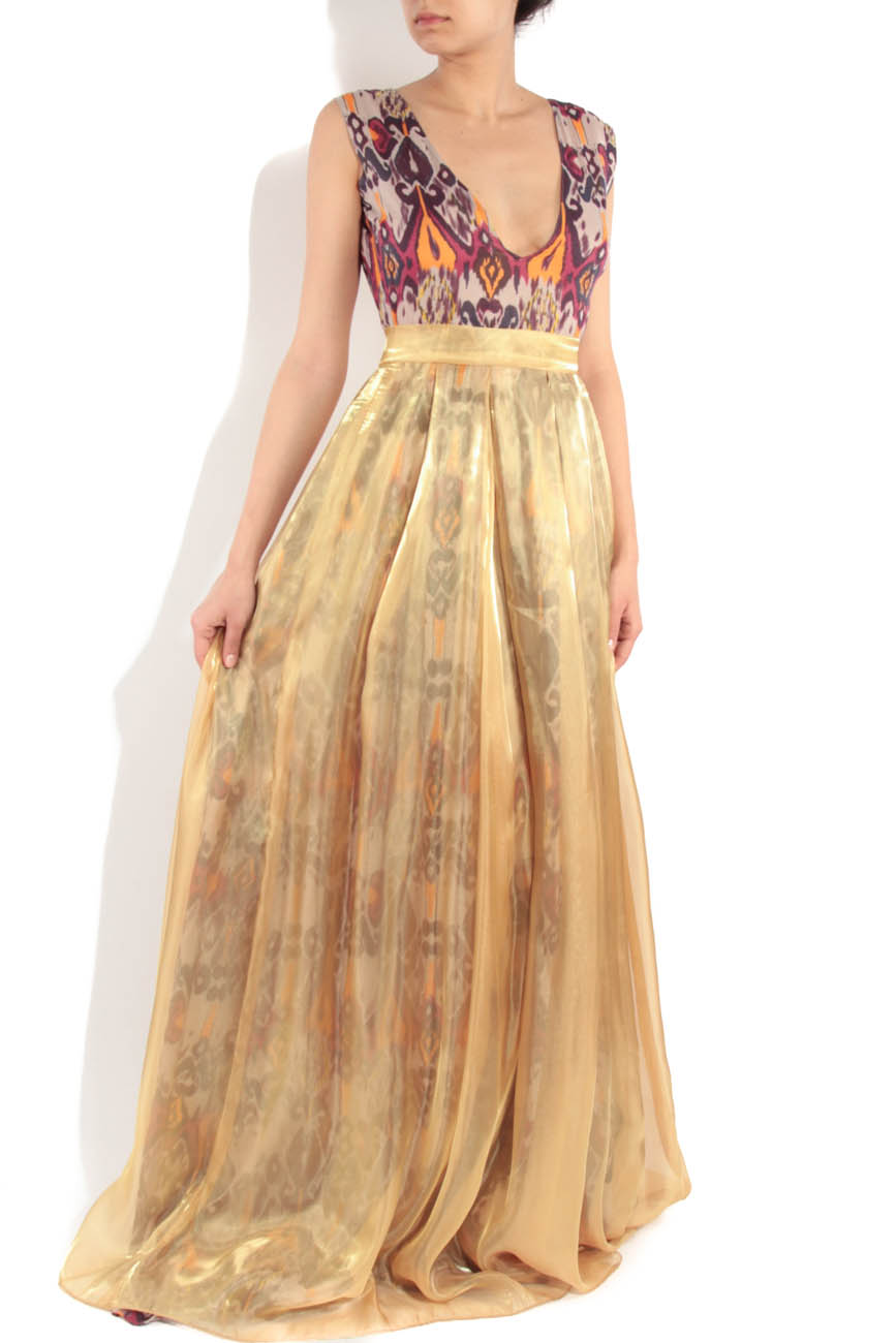 Yellow dress with tribal print Simona Semen image 1