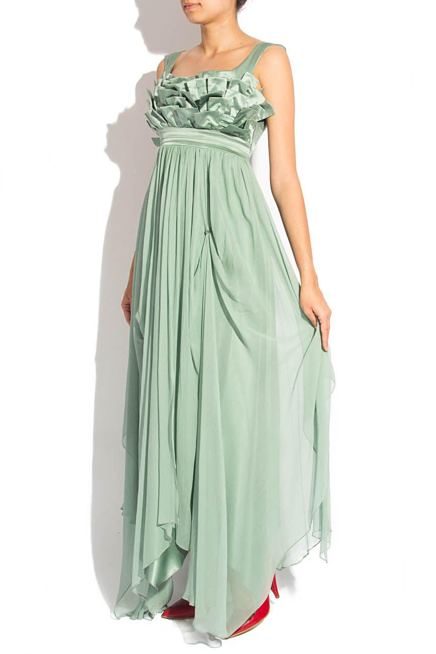 Greenish gray dress Elena Perseil image 1