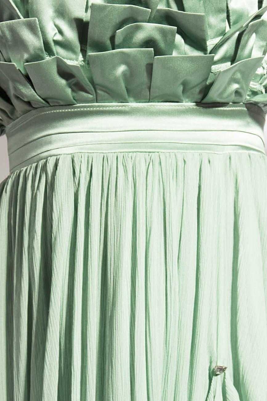 Greenish gray dress Elena Perseil image 3
