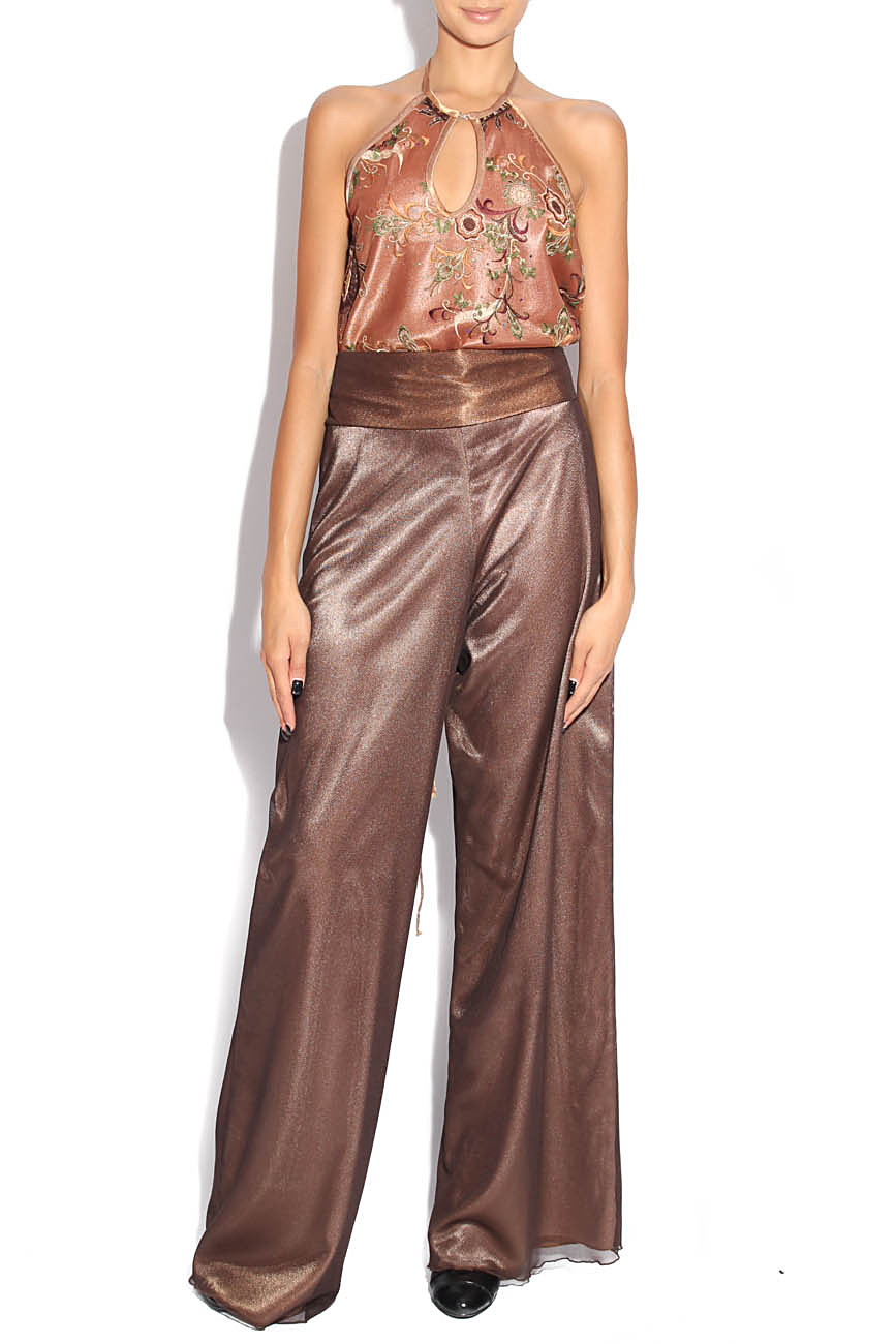 Brown jumpsuit with embroidery Adriana Agostini  image 0