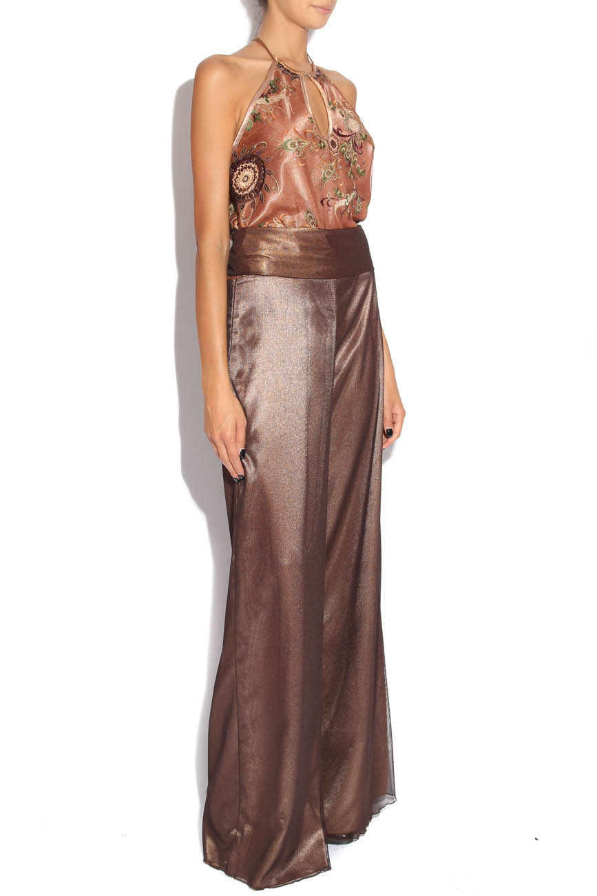 Brown jumpsuit with embroidery Adriana Agostini  image 1