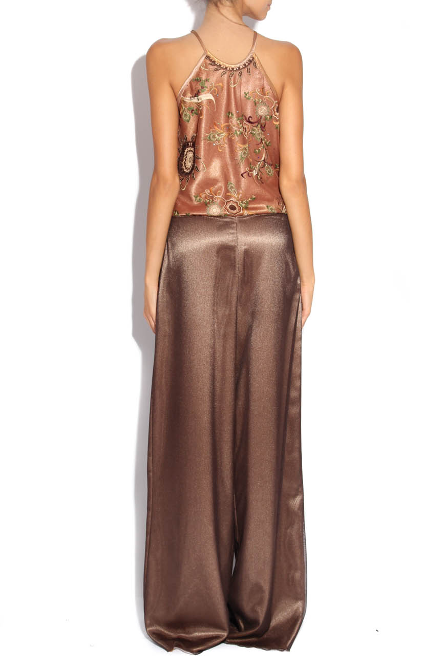 Brown jumpsuit with embroidery Adriana Agostini  image 2