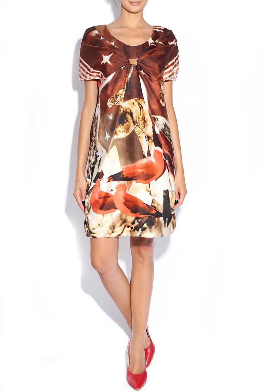 Nature-print silk dress Adriana Agostini  image 0