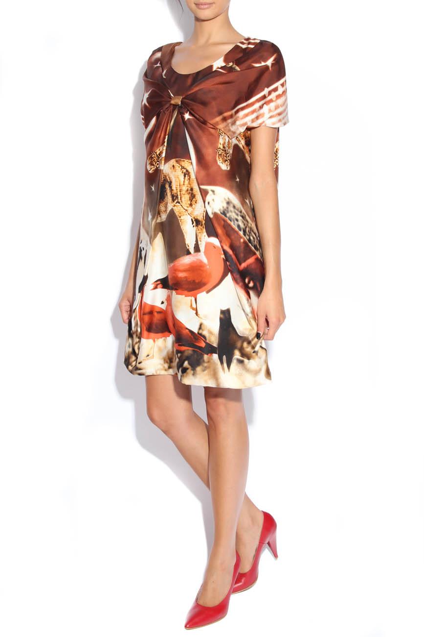 Nature-print silk dress Adriana Agostini  image 3