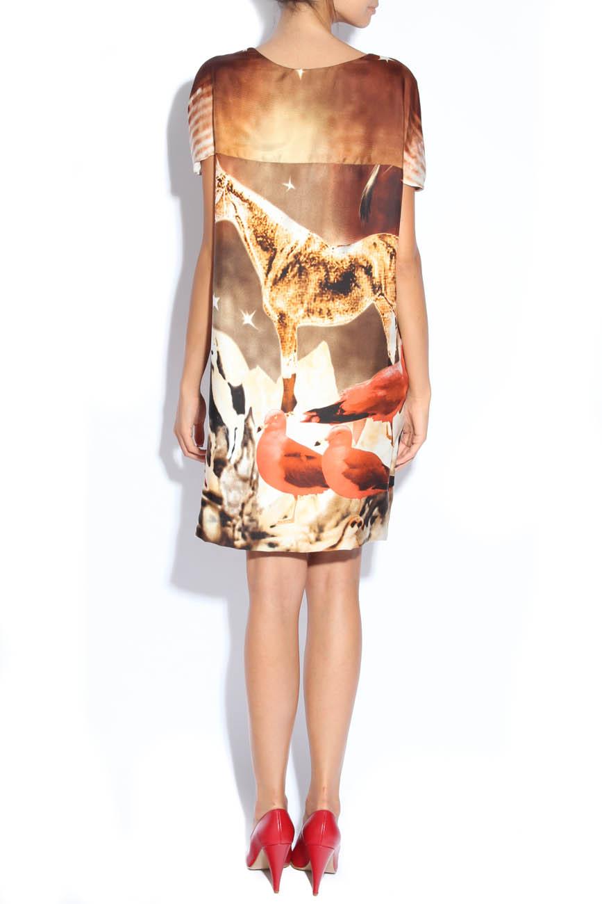 Nature-print silk dress Adriana Agostini  image 2