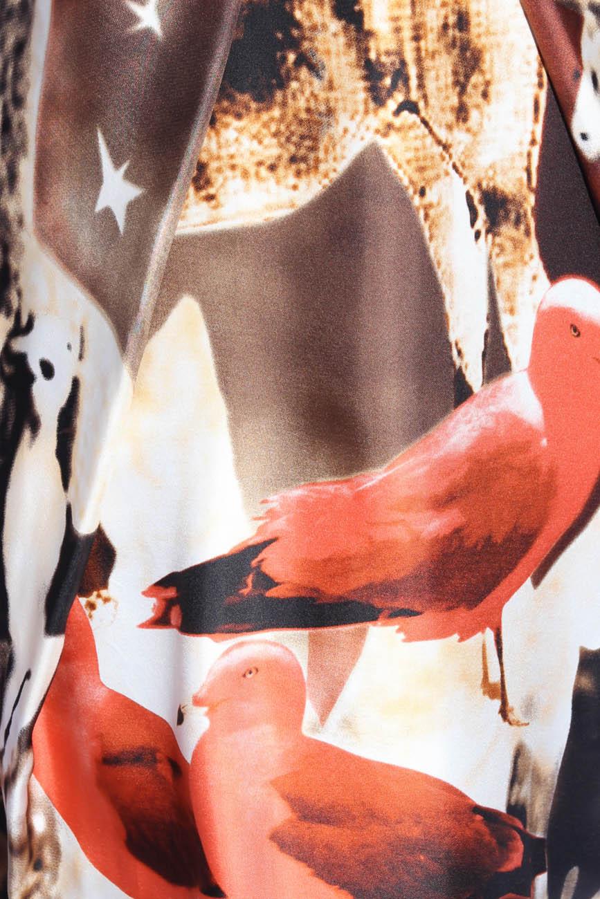Nature-print silk dress Adriana Agostini  image 1