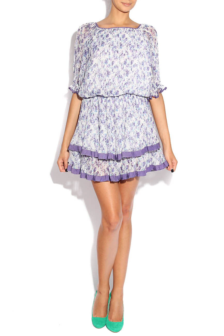 Lilac dress with flowers Adriana Agostini  image 0