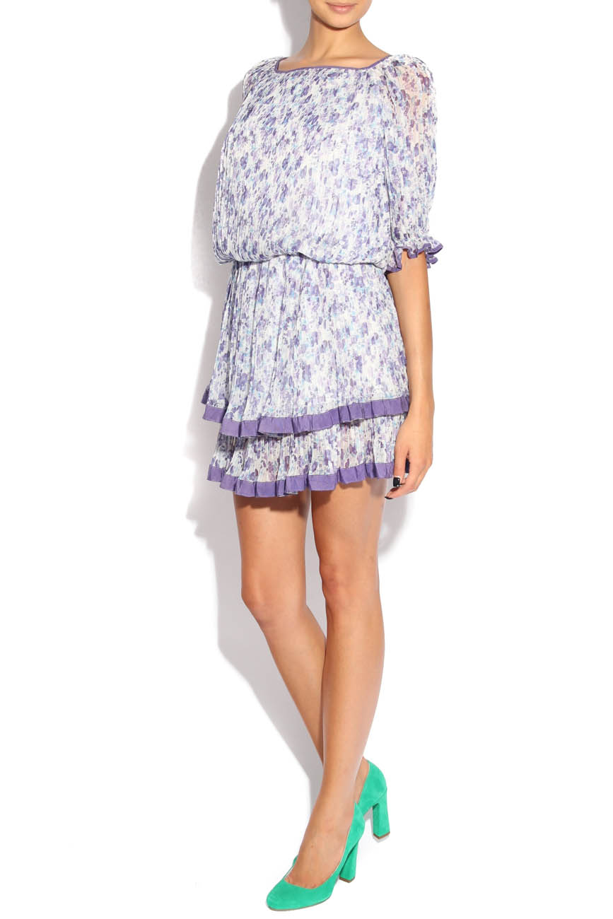Lilac dress with flowers Adriana Agostini  image 1