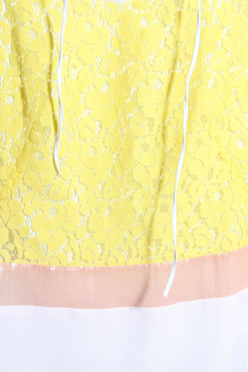 Yellow lace top Lena Criveanu image 3