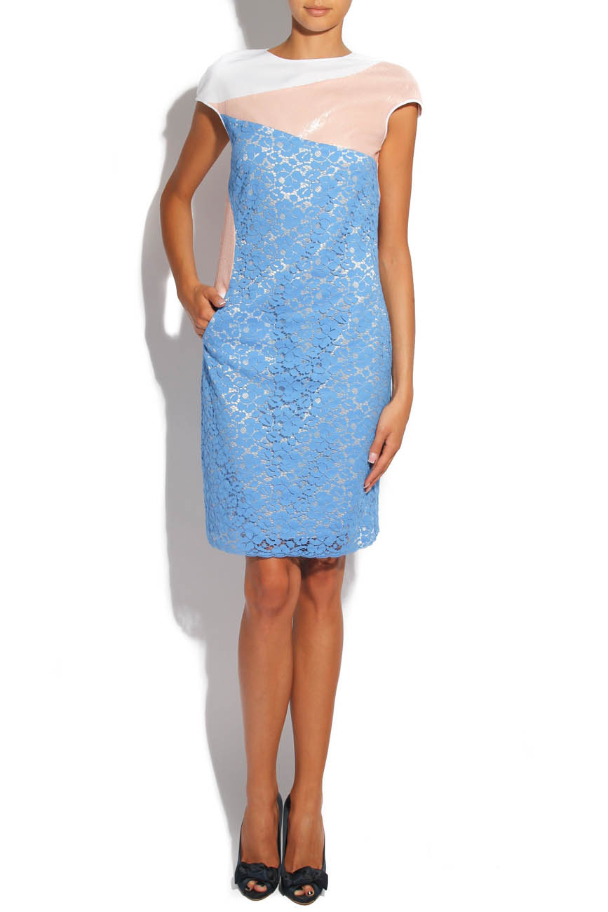 Blue lace dress Lena Criveanu image 1