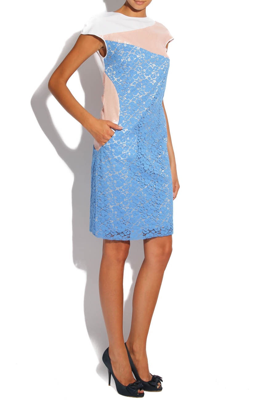 Blue lace dress Lena Criveanu image 0