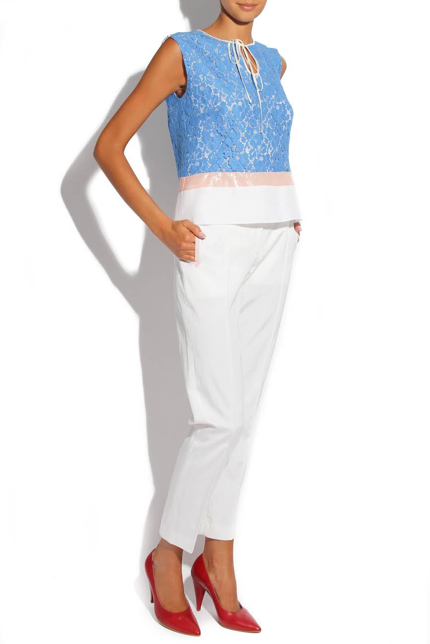 Blue Lace Shirt Lena Criveanu image 0