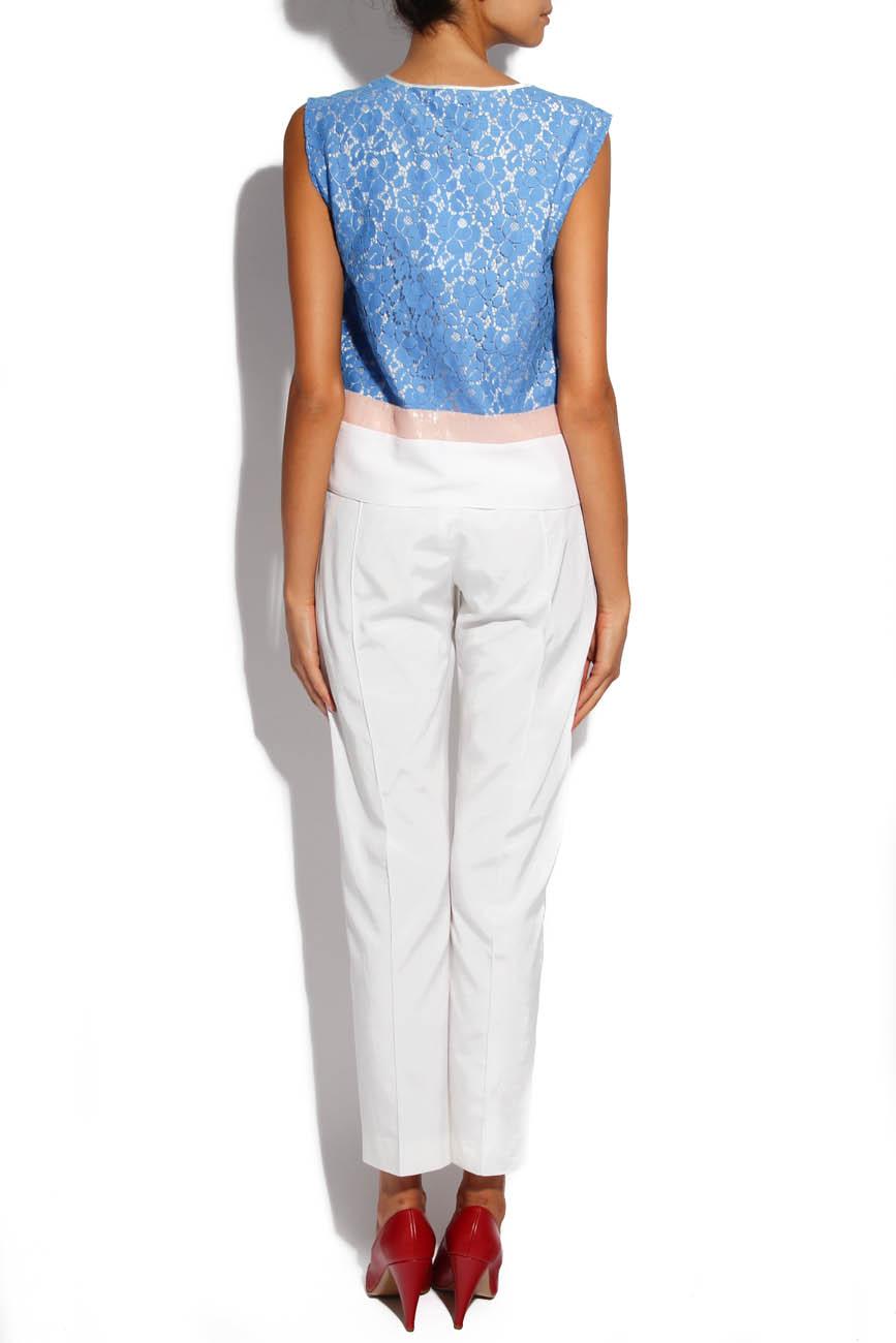 Blue Lace Shirt Lena Criveanu image 2