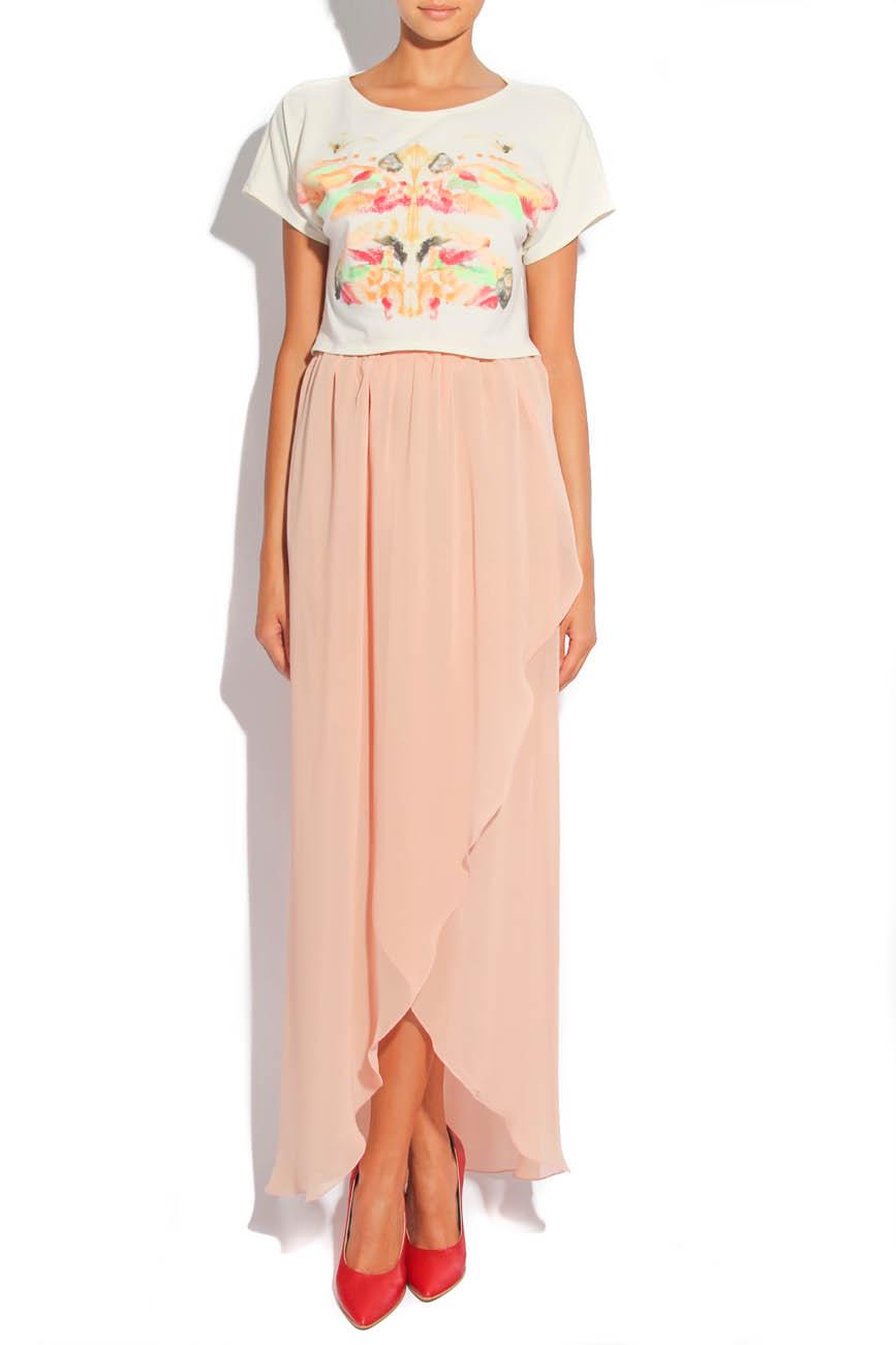 Asymmetrical PEACH Skirt  Laura Firefly image 0