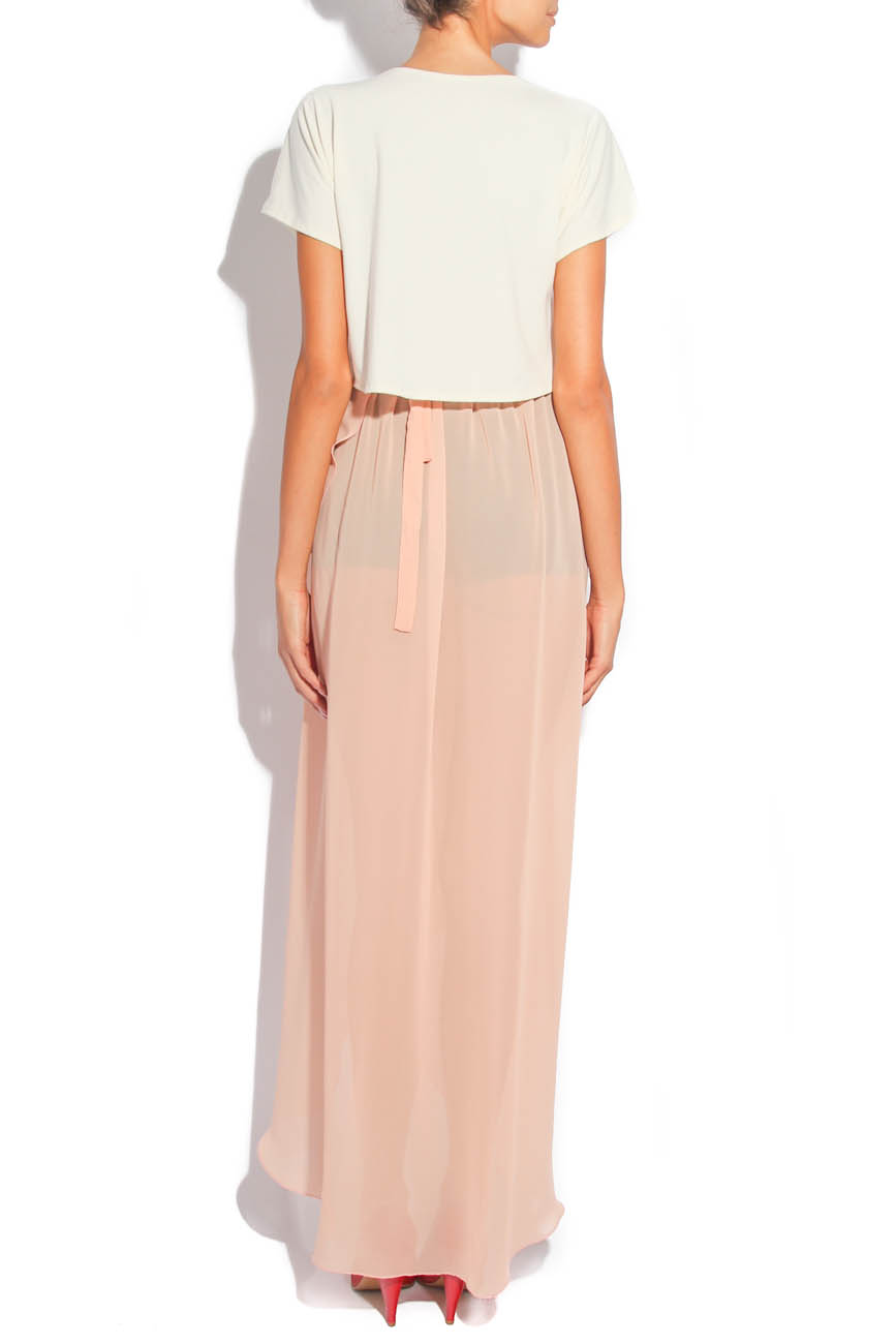Asymmetrical PEACH Skirt  Laura Firefly image 2