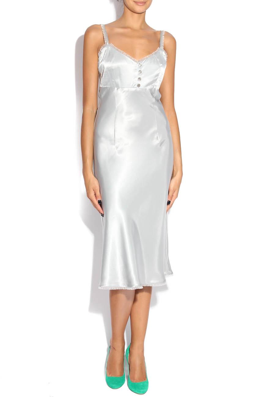 Pearl gray dress Adriana Agostini  image 0