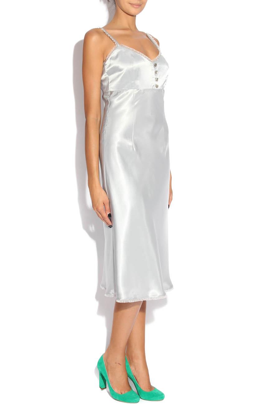 Pearl gray dress Adriana Agostini  image 1
