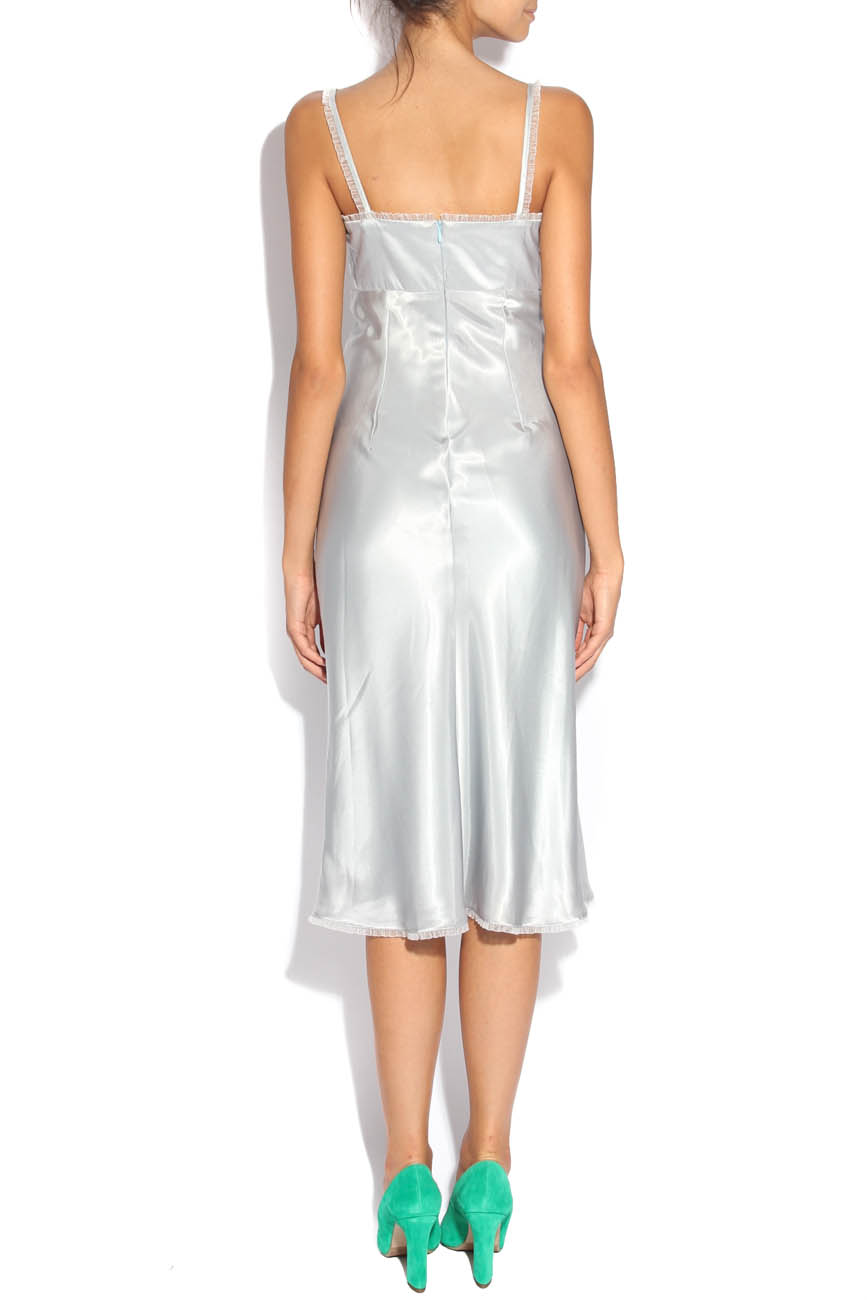 Pearl gray dress Adriana Agostini  image 2