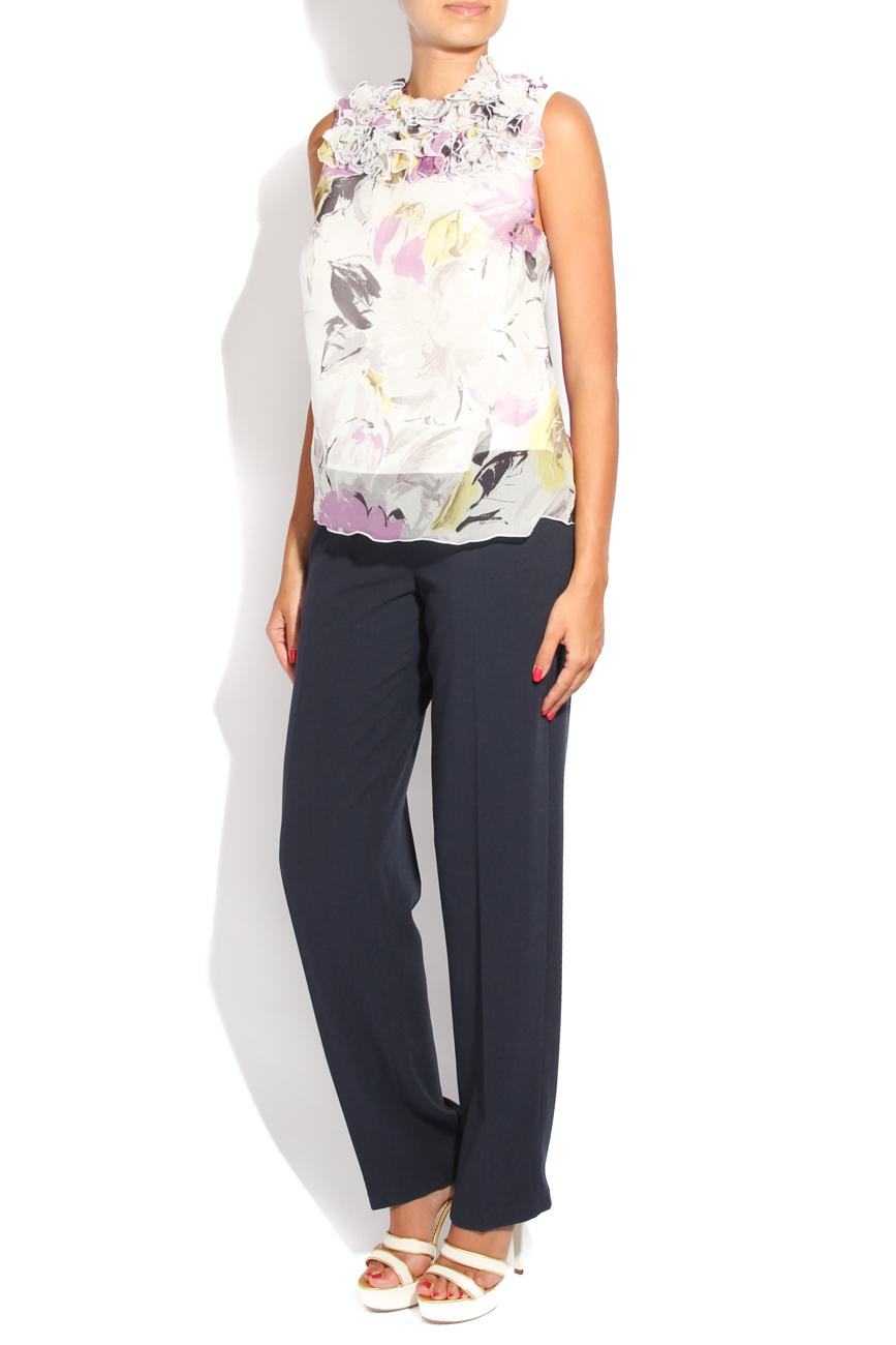 Blouse with ruffles collar Diana Bobar image 1