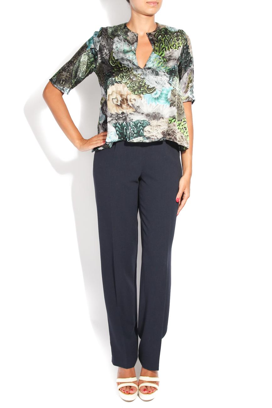 Peacock print blouse Diana Bobar image 0