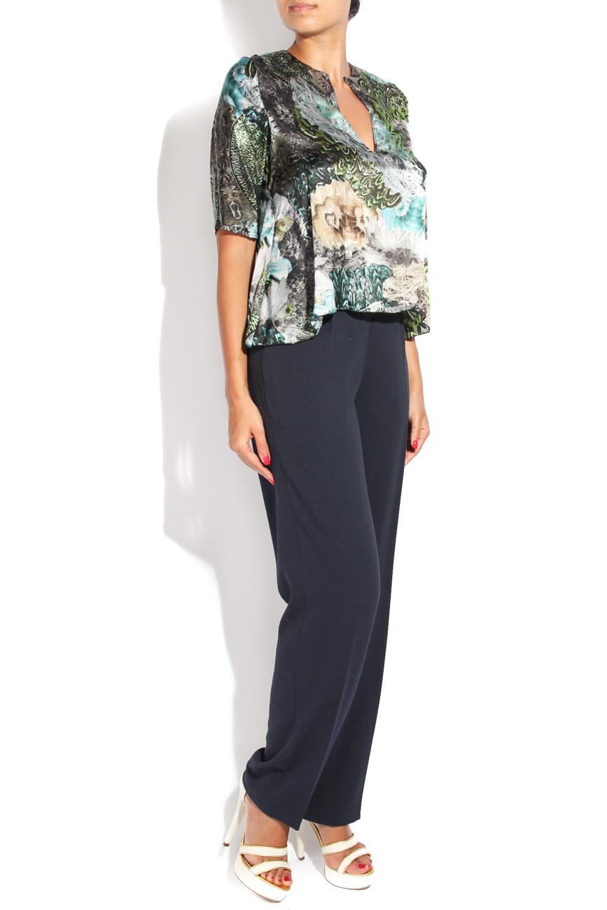 Peacock print blouse Diana Bobar image 1