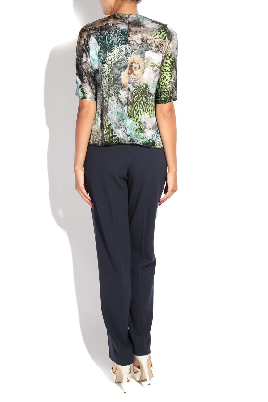 Peacock print blouse Diana Bobar image 2