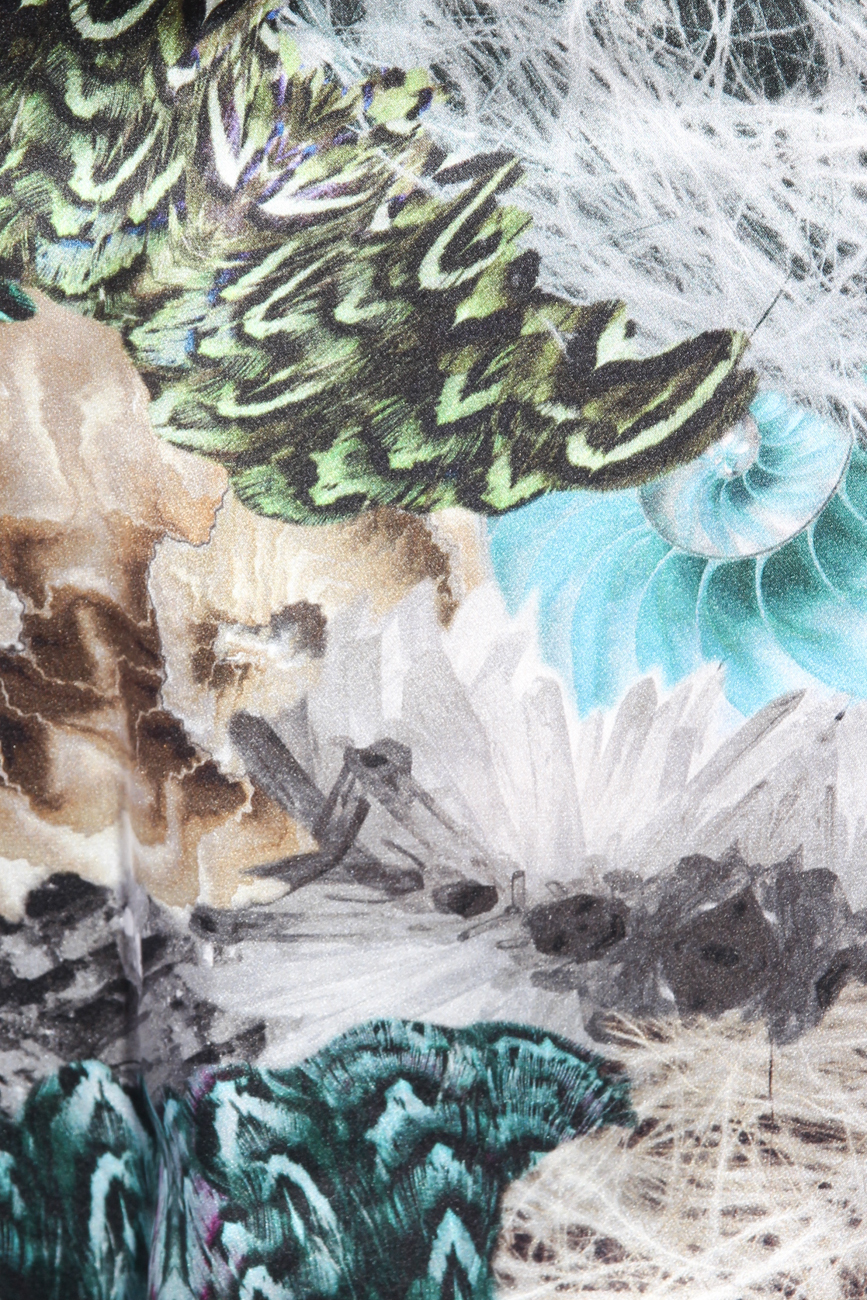 Peacock print blouse Diana Bobar image 3