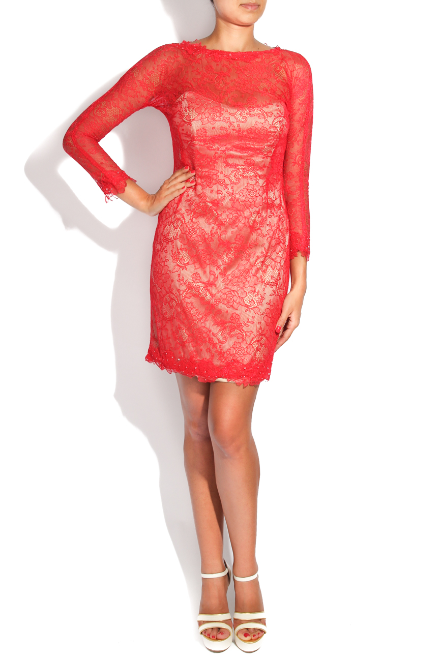 Red lace dress Adriana Agostini  image 0
