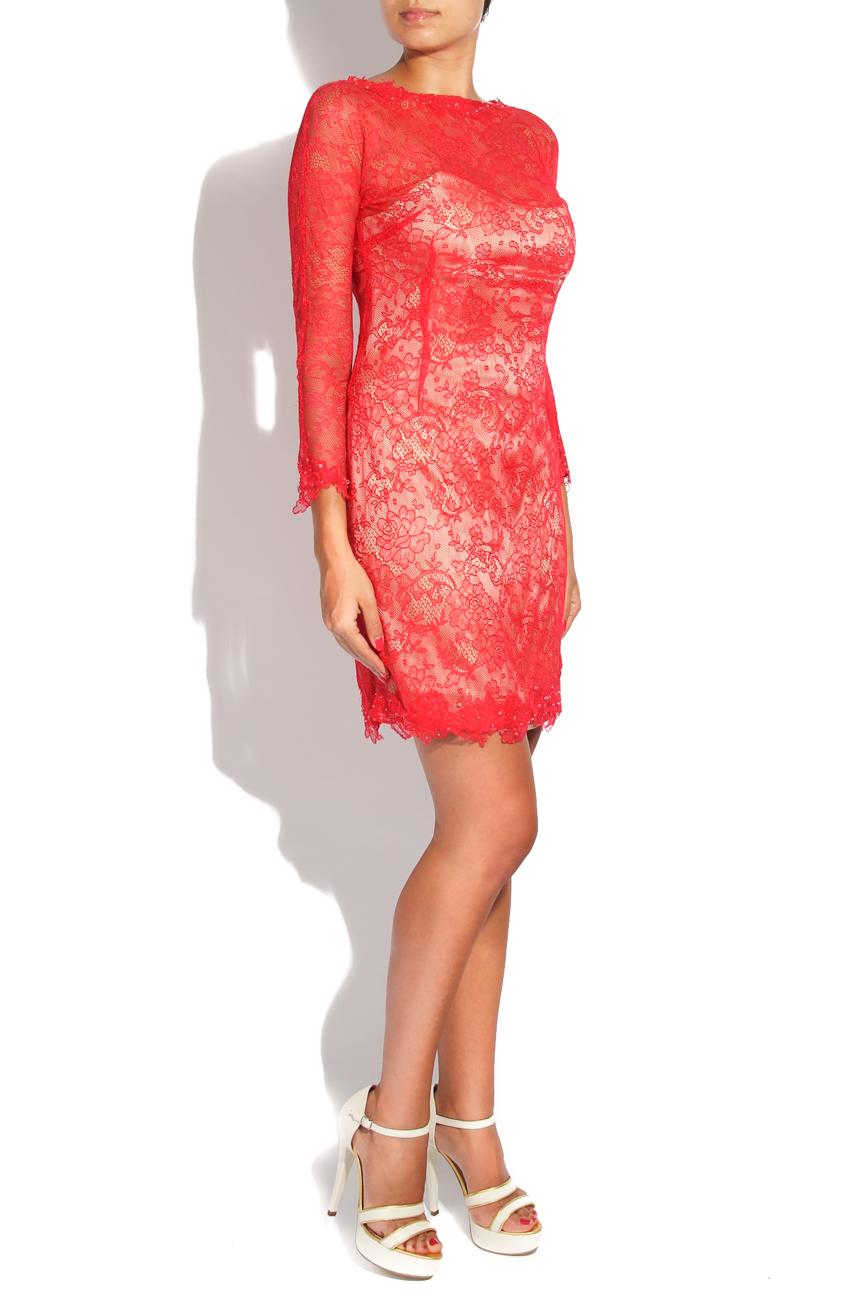 Red lace dress Adriana Agostini  image 1