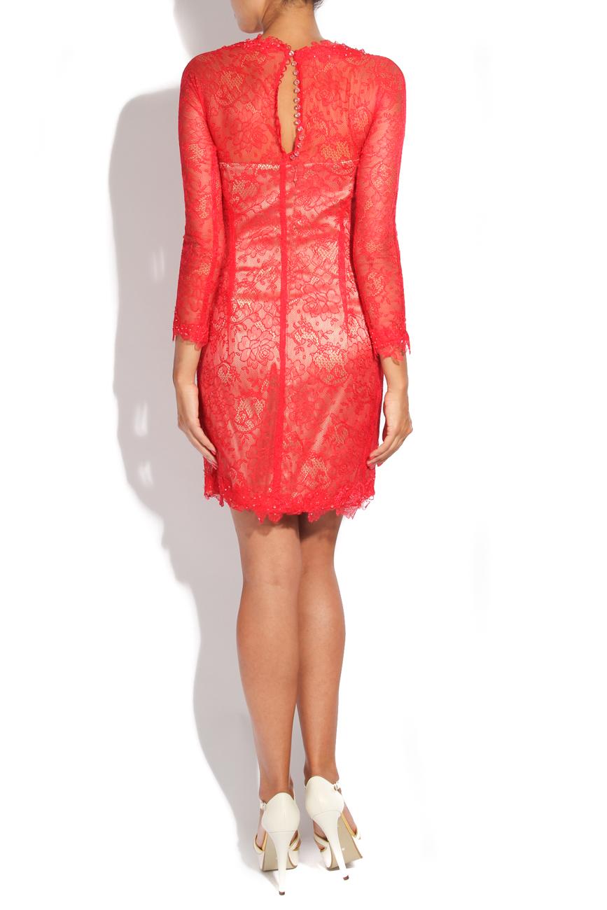Red lace dress Adriana Agostini  image 2