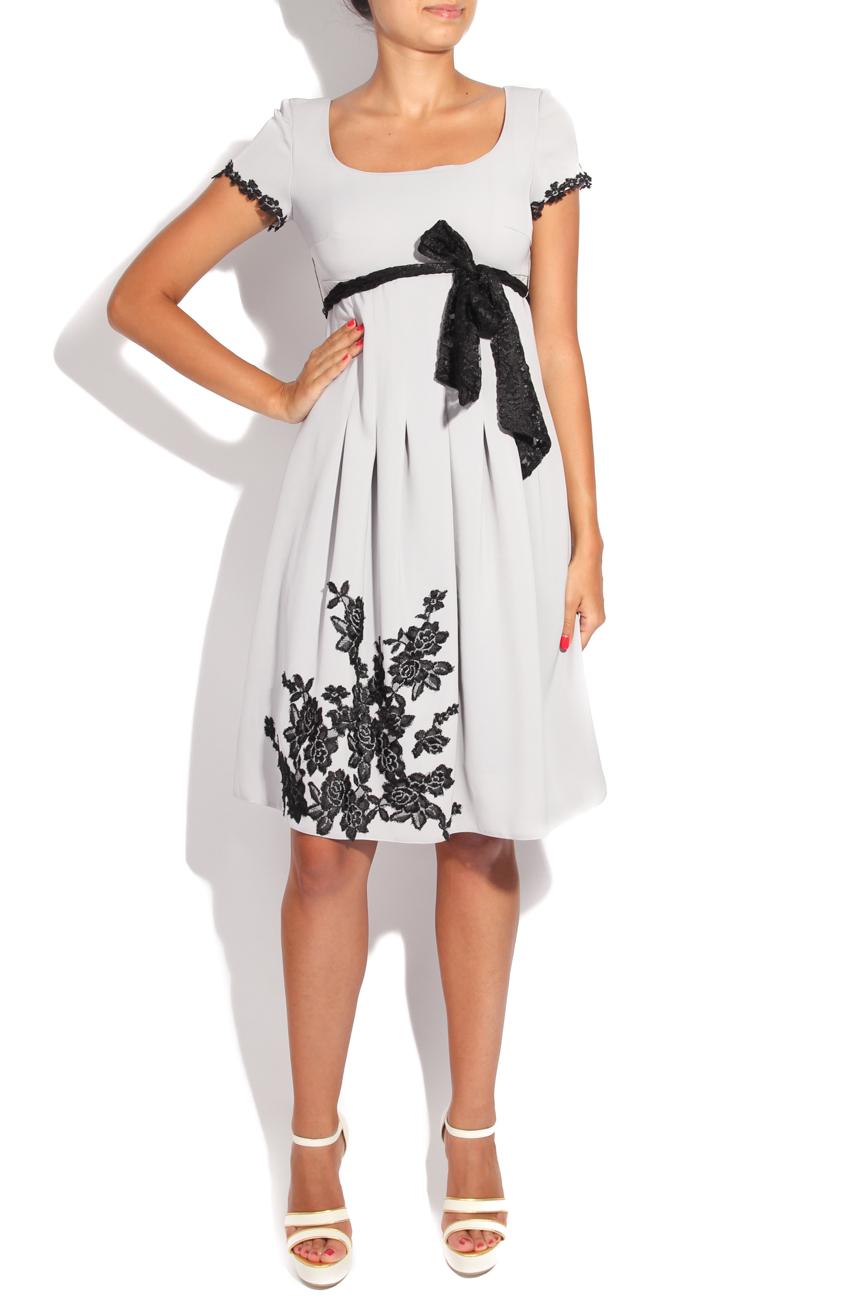 Dress with black embroidery Adriana Agostini  image 0