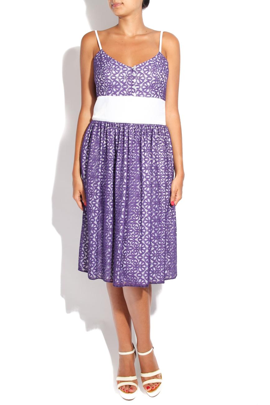 Purple lace dress Adriana Agostini  image 0