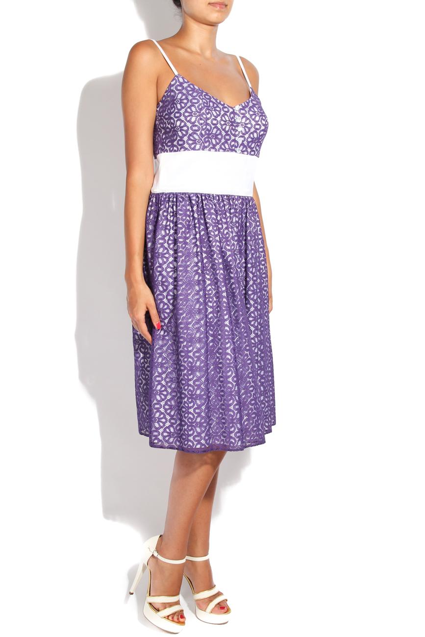 Purple lace dress Adriana Agostini  image 1