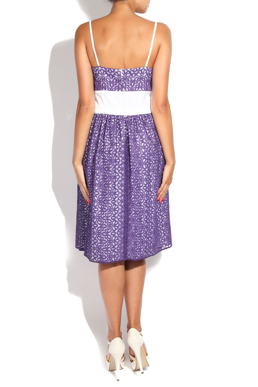 Purple lace dress Adriana Agostini  image 2
