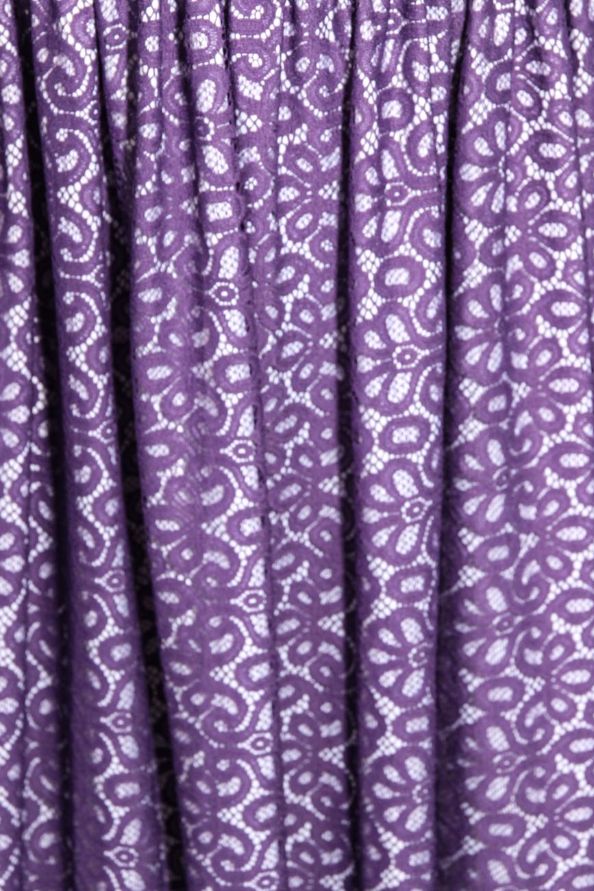 Purple lace dress Adriana Agostini  image 3
