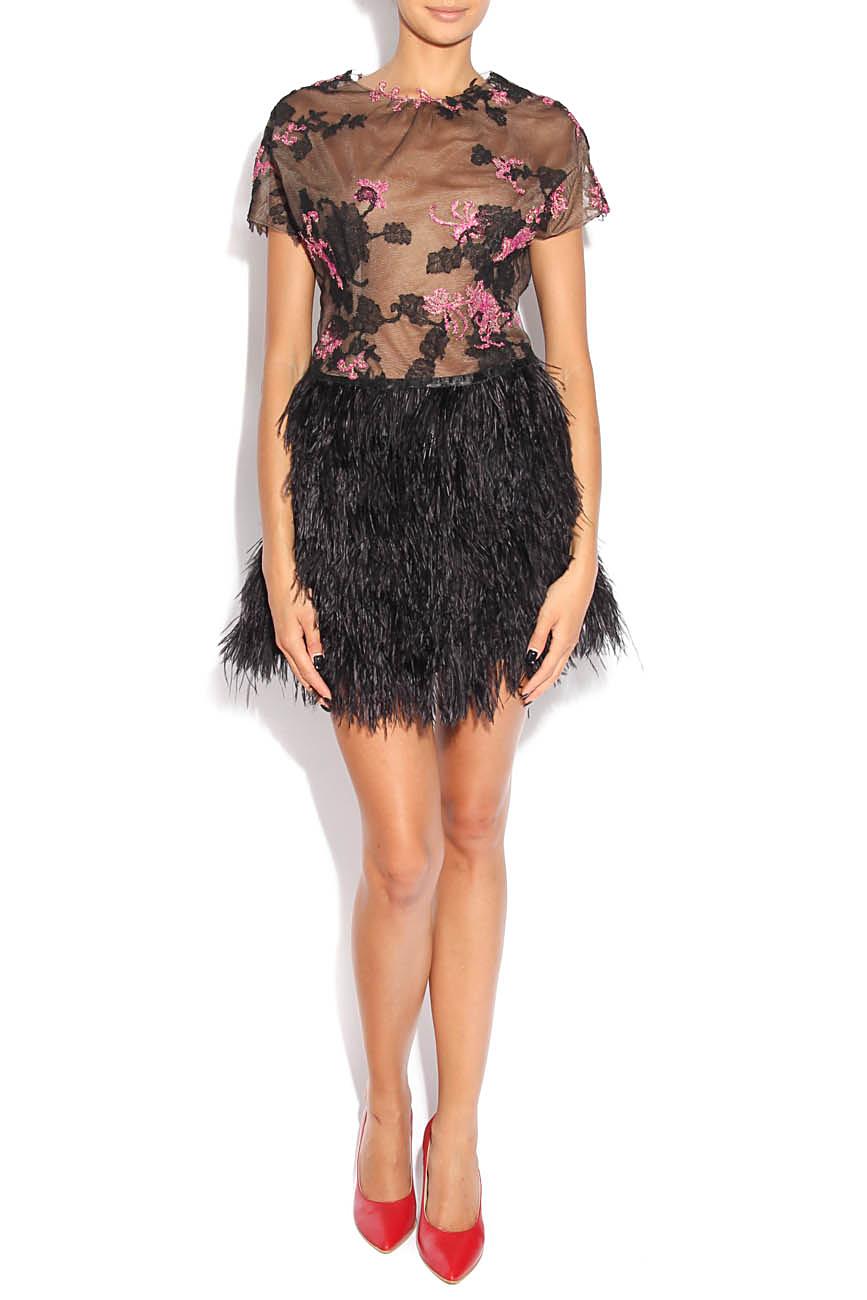 Dress with feathers Adriana Agostini  image 0