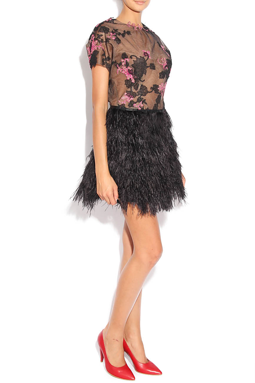 Dress with feathers Adriana Agostini  image 1