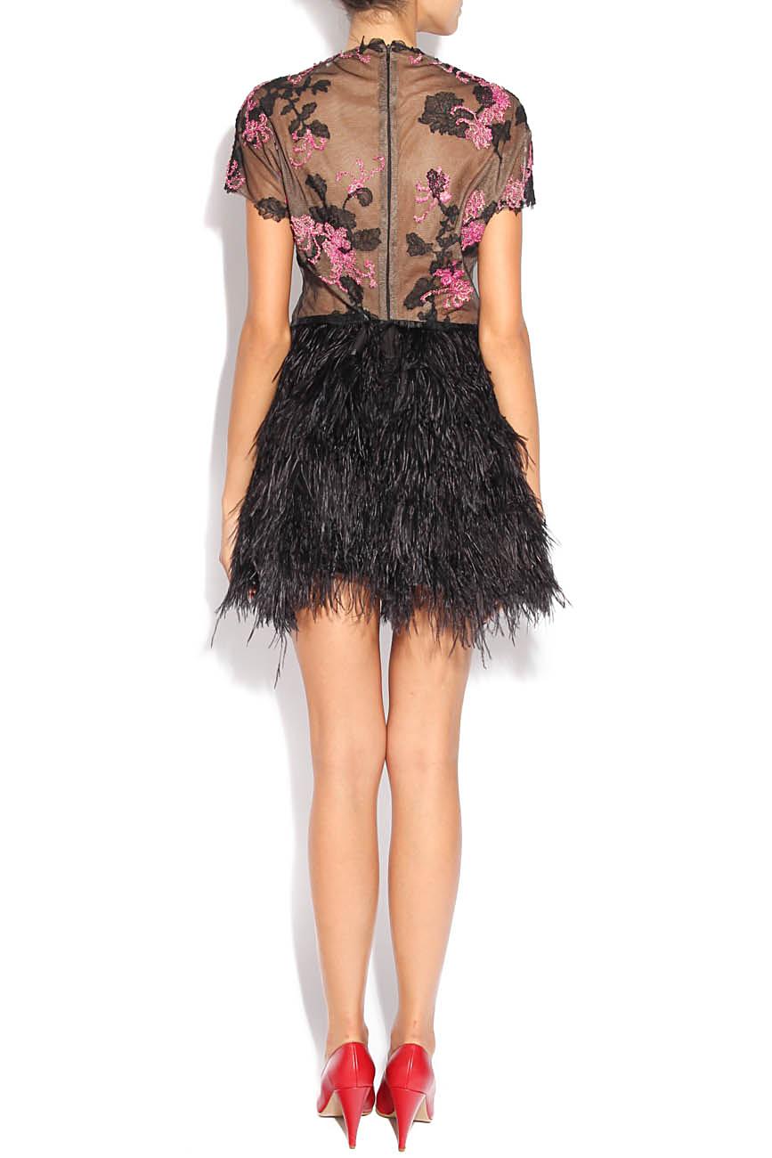 Dress with feathers Adriana Agostini  image 2