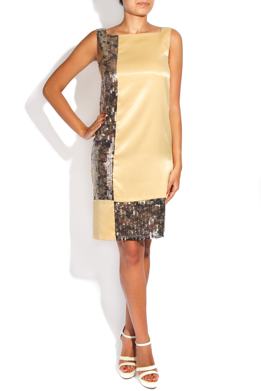 Golden geometric dress Adriana Agostini  image 0